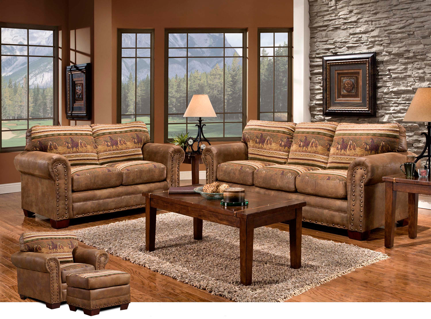 Black Forest Decor Mustang band 4 piece set
