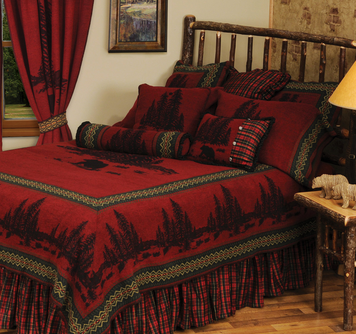Black Forest Decor Wooded river bear 5 bedspread - super ...