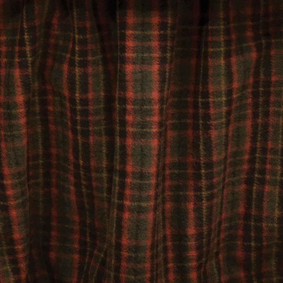 Black Forest Decor Wooded river plaid 4 gathered bedskirt...