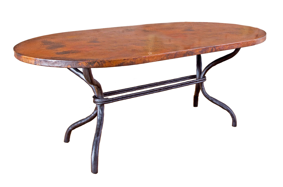 Black Forest Decor Woodland oval dining table