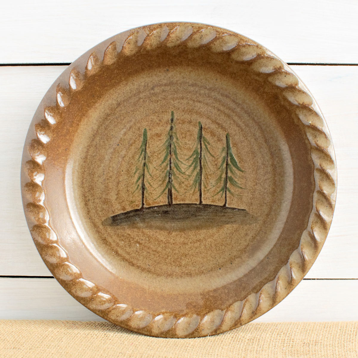 Black Forest Decor Northwoods pine trees pie plate & Artisanal dinnerware | Compare Prices at Nextag