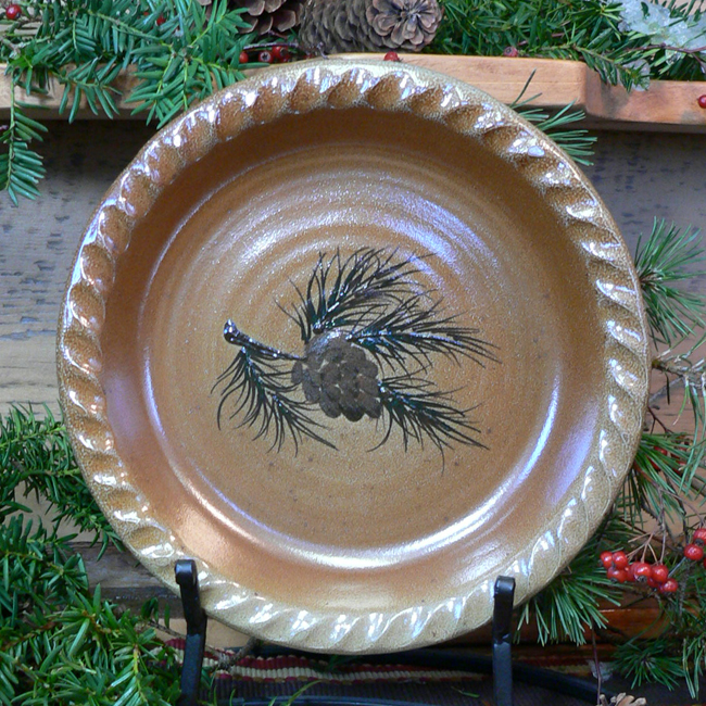 Black Forest Decor Northwoods pinecone pie plate