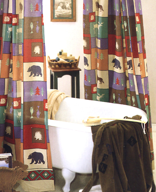 Rustic Shower Curtains The Woods Curtain