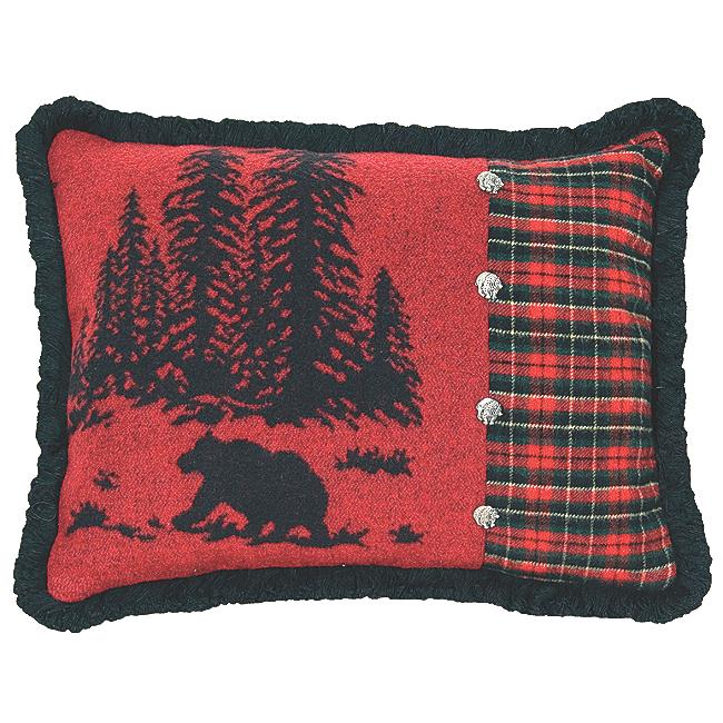 Black Forest Decor Wooded river bear 5 rectangle pillow