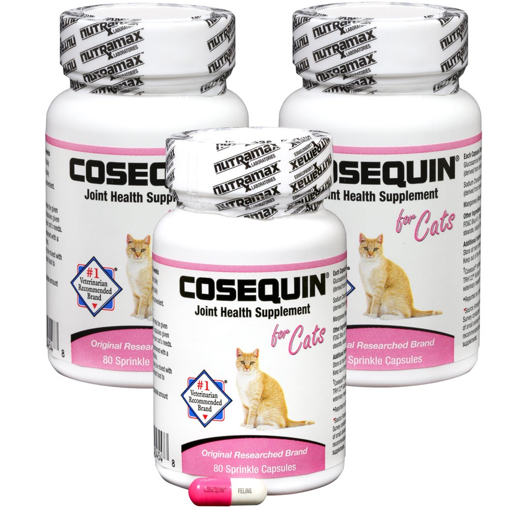 4 pack cosequin for cats 80 count 320 capsules ebay. Black Bedroom Furniture Sets. Home Design Ideas