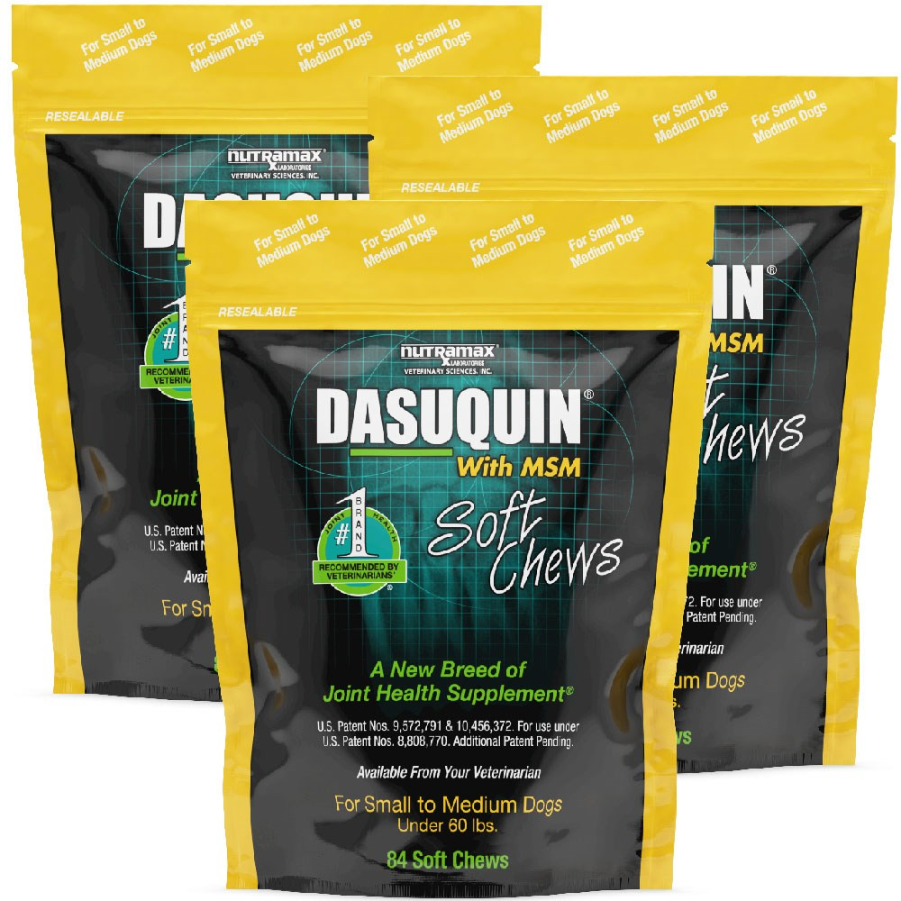 3pack dasuquin soft chews for small to medium dogs with msm 252 chews ebay. Black Bedroom Furniture Sets. Home Design Ideas