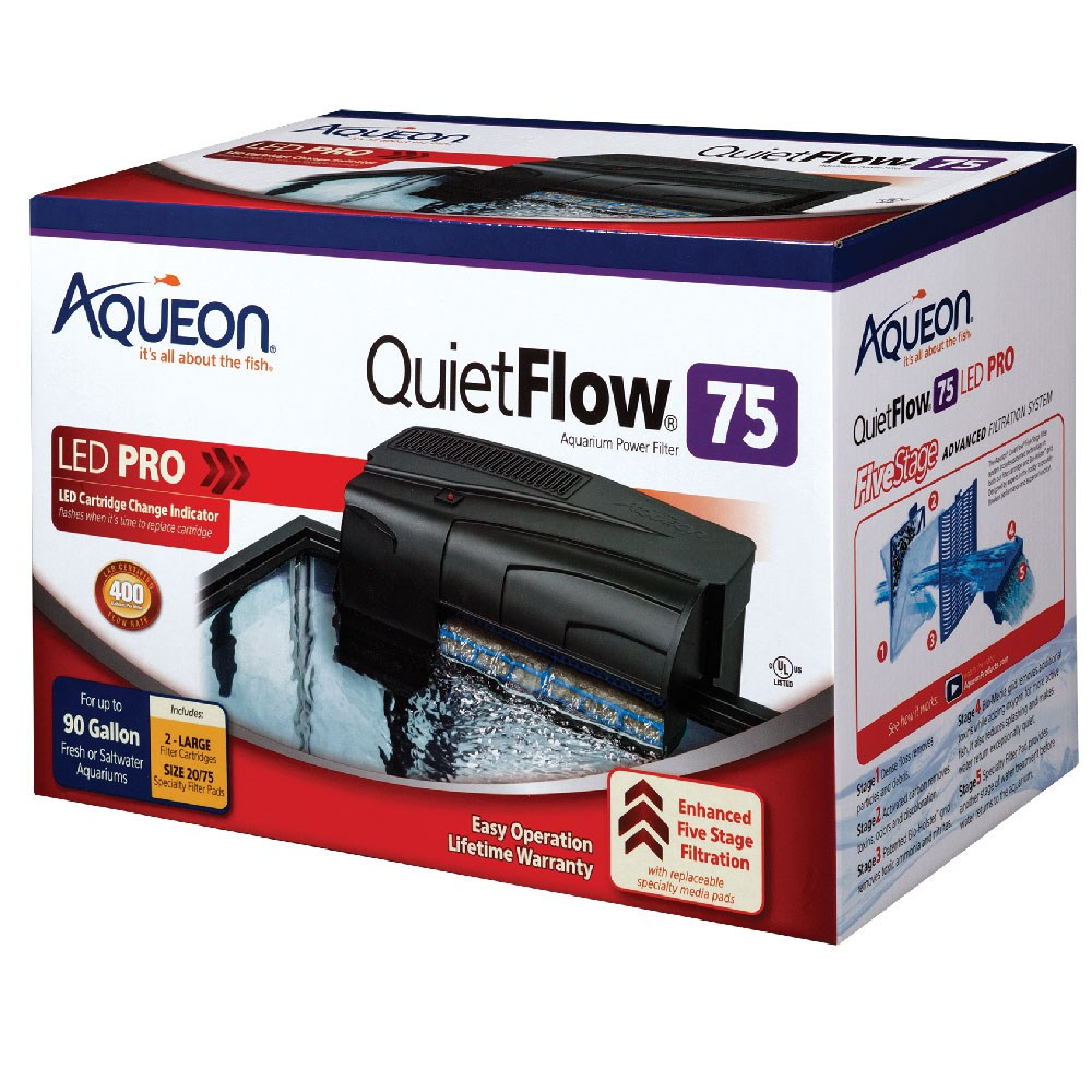 Aqueon quietflow 55 aquarium power filter ebay for Petco fish tank filters