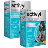 12 MONTH Activyl Spot-On for Medium Dogs & Puppies (22-44 lbs)