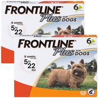 frontline plus for dogs 0-22 lbs - orange, 12 month on lovemypets.com