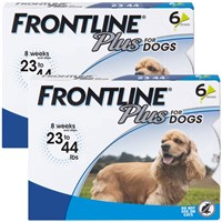 frontline plus for dogs 23-44 lbs - blue, 12 month on lovemypets.com
