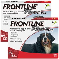 12 MONTH Frontline PLUS Red for Dogs 89-132 lbs Best Price