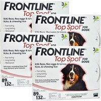 12 MONTH Frontline Top Spot Red: for Dogs 89-132lbs.