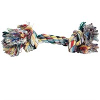 2 Knot Multi Color Tug Rope Bone - Extra Large (10 inch)