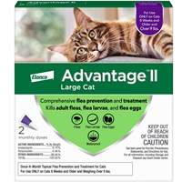 2 MONTH Advantage II Flea Control Large Cat (for Cats over 9 lbs.)