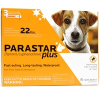 3 MONTH Parastar PLUS for Dogs - Orange (4-22 lbs)