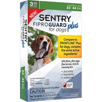 3-PACK SENTRY® FiproGuard® Plus Flea & Tick Spot-On for Dogs (23-44 lbs)