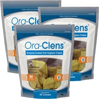 3-PACK Ora-Clens® Oral Hygiene Chews Medium (90 Chews)