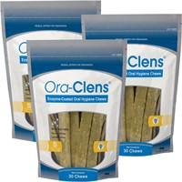 3-PACK Ora-Clens Oral Hygiene Chews Small (90 Chews)