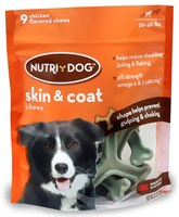 3M Nutri-Dog Skin And Coat Chews MEDIUM (9 ct)