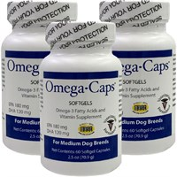 3-PACK Omega-Caps For Medium Dogs (180 Softgel Capsules)