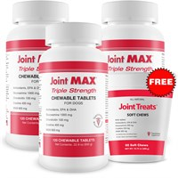 3-PACK Joint MAX Triple Strength (360 Chewable Tablets) + FREE Joint Treats Minis