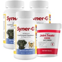3-PACK Syner-G® Digestive Enzymes (600 Tablets) + FREE Joint Treats&Reg; minis