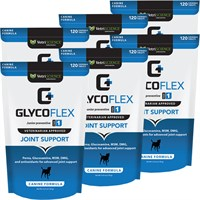 6 PACK GlycoFlex 1 (720 SOFT CHEWS) FREE Joint Treats