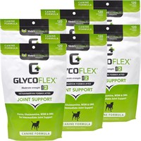 6 PACK Glyco Flex II (720 SOFT CHEWS) FREE Joint Treats Minis