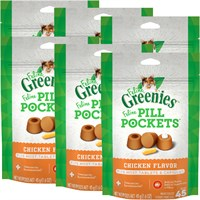 6-PACK Pill Pockets for Cats CHICKEN 9.6 oz (270 pockets) Best Price