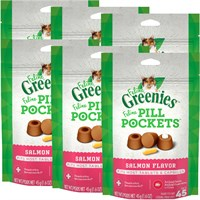 6-PACK Pill Pockets for Cats SALMON 9.6 oz (270 pockets)