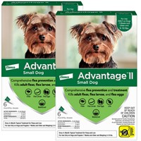 12 MONTH Advantage II Flea Control Small Dog for Dogs under 10 lbs
