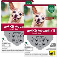 K9 ADVANTIX II 12 MONTH Small Dog (for dogs up to 10 lbs)
