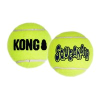 airkongtenl3 NEW! Air KONG Squeaker Tennis Balls (2 Pack)   LARGE