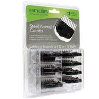 Andis® Stainless Steel Magnetic Comb Set Black (8 Pieces)