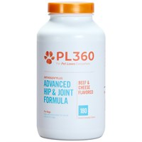 PL360 Arthogen Advanced Hip & Joint Formula for Dogs- Beef & Cheese Flavor (180 Chewable Tablets)