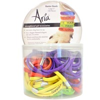 "Aria Banter Bands - Large 5"" (100 pieces)"