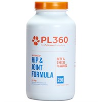 PL360 Arthogen® Hip & Joint Formula for Dogs - Beef & Cheese Flavor (250 Chewable Tablets)