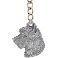 "Dog Breed Keychain USA Pewter - Australian Terrier (2.5"")"