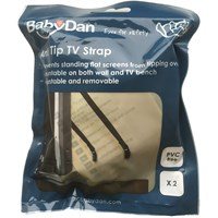 BabyDan Safety Anti-Tip TV Strap - Black (2 pack)
