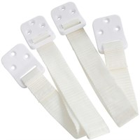 BabyDan Safety Furniture Straps - White (2 pack)