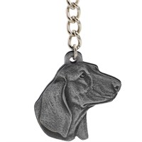 "Dog Breed Keychain USA Pewter - Basset Hound (2.5"")"