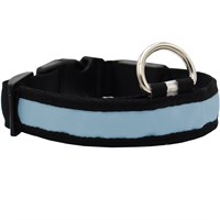 LED Safety Electric Glow Collar - Blue (X-Large)