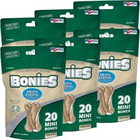 Image of BONIES® Natural Dental Health Multi-Pack MINI 6-PACK (120 Bones)