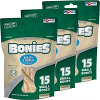 BONIES Natural Dental Health Multi-Pack SMALL 3-PACK (45 Bones)
