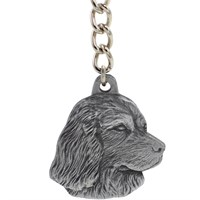 "Dog Breed Keychain USA Pewter - Boykin Spaniel (2.5"")"
