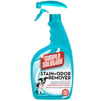 SIMPLE SOLUTION Stain & Odor Remover for CATS & DOGS (32 fl oz)