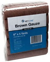 Brown Roll Cling Gauze 12-PACK (6