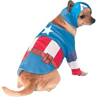 Captain America Dog Costume - Medium