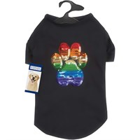 Casual Canine Puppy Pride Sequin Tee - Large