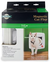 Cat Door Magnetic White 4Way Lock